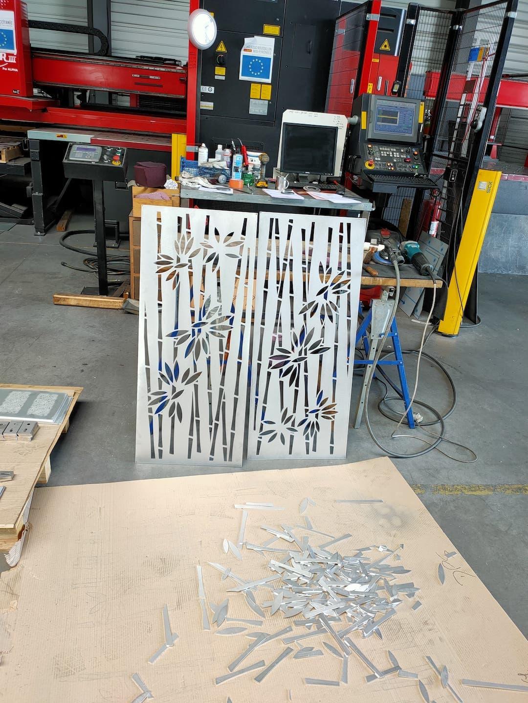 Motif alu décoratif style bambou